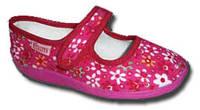 Тапочки на девочку Виталия 19-22.5 р розовые цветочек