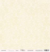 Бумага односторонняя 30х30см от Scrapmir Элегант Узор №8, 1 шт