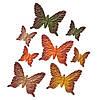 Бабочки, золотая осень, 8шт/уп