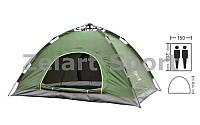 Палатка-автомат с автоматическим каркасом 2-х местная  (р-р 2,0х1,50х1,10м, PL, зеленый)