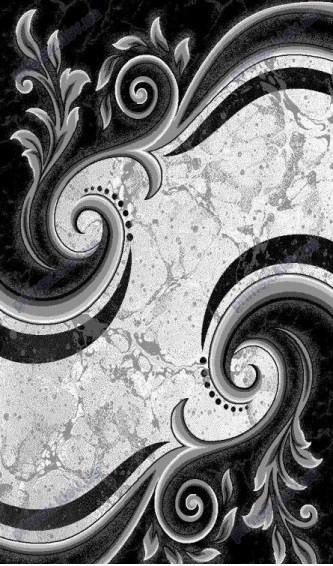 """Синтетический ковер Фестивал Стайл """"Фантазия"""" рельефный, цвет серо-черный"""