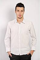 Классическая мужская рубашка простого кроя в таких расцветках:молочная клетка, персиковая клетка, светло-голубой, светло-оливковый, светло-серый,
