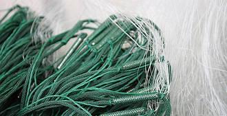 Сеть рыболовная трехстенная(порежная) 1.6м высота, 50м, ячейка 30 груз в шнуре