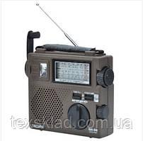 Радіо TECSUN GREEN-88 с динамо машыной для зарядки