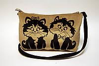 Женская сумочка клатч котейки няшки, фото 1