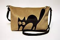 Женская сумочка клатч Кот на лапах