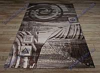 """Синтетический ковер Фестивал Стайл """"Город"""" рельефный, коричневые тона"""