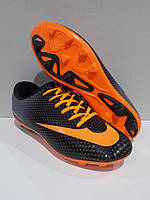 Бутсы копы футбольные Walked Nike чёрные