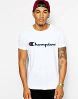 Стильная мужская футболка белая Champion