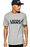 Стильная мужская футболка серая Vans