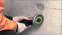 Штробление стен под проводку (бетон)