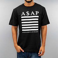 Стильная мужская футболка черная ASAP