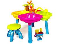 """Детский столик - песочница """"Паучек"""" для игры с кинетическим песком"""