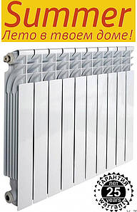 Биметаллический радиатор Summer (Самер) 500/76, 30 атмосфер
