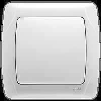 Выключатель одноклавишный Viko белый