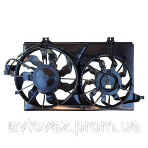 Мотор охлаждения, вентилятор кондиционера ВАЗ 2170, ВАЗ 2171, ВАЗ 2172 Приора, 2 вентилятора Halla
