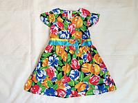 """Платье летнее для девочки 1-3 года,""""Цветочки"""",цветное"""