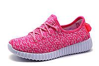 Кроссовки женские/подросток Yeezy Boost, текстиль, розовые, р. 41