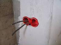 Установка подразетников/распаячных коробок (бетон)
