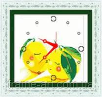 Алмазная вышивка V-017 Часы Лимони 38*40 см, камни
