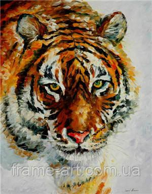 Алмазная вышивка Х-035 Тигр 40*50 см, камни