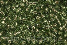 Бисер 78163 (10343) Preciosa (Чехия) серо-зеленый блестящий 25г