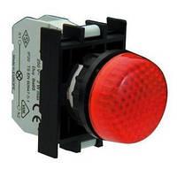 Арматура сигнальная 22мм с блок-контактом подсветки без лампы красная