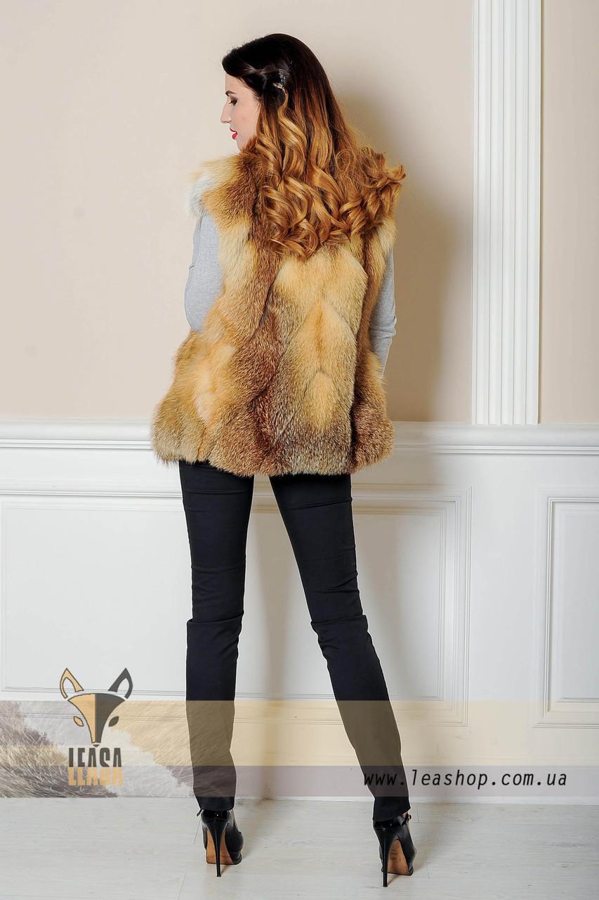 Молодежная жилетка из лисы