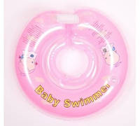 Круг для купания младенцев розовый ТМ Baby swimmer 6-36кг
