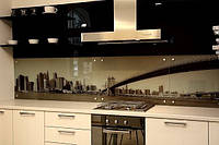 Кухонный фартук на кухню Бруклинский мост.Под заказ. Низкие цены