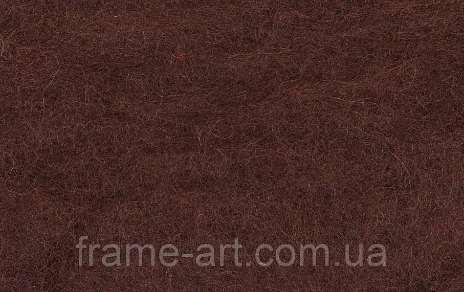 Вовна для валяння Новозеландський кардочес К3014 тьмяно-червоний, 40г