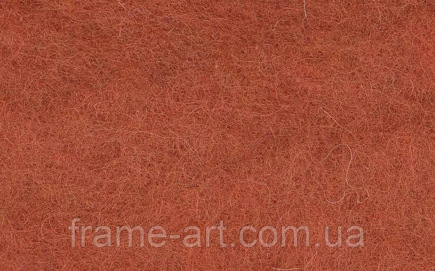 Шерсть для валяния Новозеландский кардочес К3015 терракот, 40г