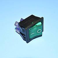 Выключатель 220В AE-C1553ALBG3 (IRS201) зеленый 2-группы ON-OFF  Arcolectric
