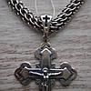 Срібний хрестик з розп'яттям, 5 грам, фото 4