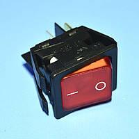 Выключатель 220В AE-C6053ALNAE (IRS201) красный 2-группы ON-OFF  Arcolectric