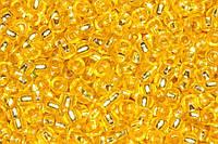 Бисер 08286 Preciosa (Чехия) желтый блестящий 25г