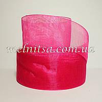 Лента из органзы , 4 см, цвет  малиновый