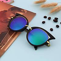 Стильные солнцезащитные очки, цвет зеленый хамелеон