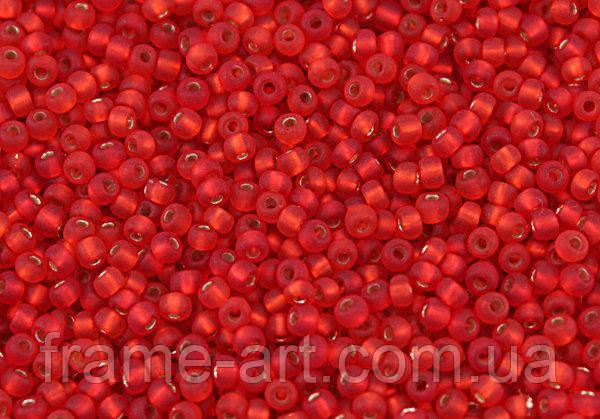 Бисер 97070/1 матт Preсiosa (Чехия) красный блестящий матовый 25г