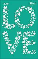 Трафарет многоразовый самоклеющийся Влюбленные сердца 13*20см №2004 ROSA Talent