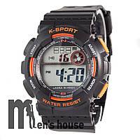 Бюджетные часы Lasika W-H9001 Black/Orange