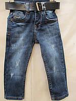 Детские джинсы,потертые 86-110