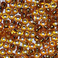 Бісер 87069 Ргесіоѕа (Чехія) (код 33129) жовто-оранжевий блискучий райдужний 25г