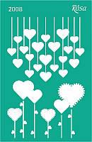 Трафарет многоразовый самоклеющийся Влюбленные сердца 13*20см №2008 ROSA Talent