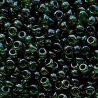 Бісер 56150 Ргесіоѕа (Чехія) темно-зелений глазур 25г