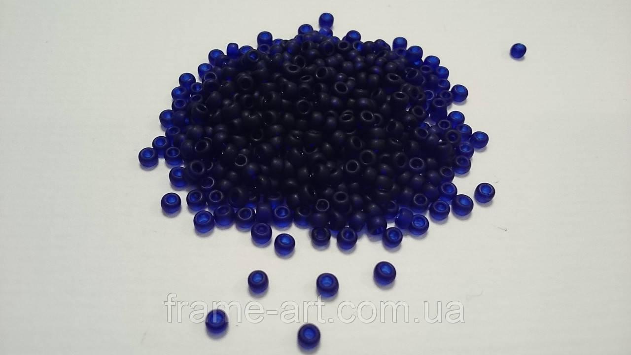 Тохо Япония 4гр 0008DF темно синий прозрачный матовый
