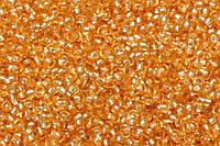 Бисер 18288 Preсiosa (Чехия) светло-оранжевый блестящий 25г