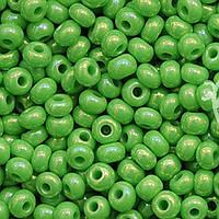 Бисер 54210 Preсiosa (Чехия) зеленый жемчужный радужный 25г