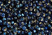 Бисер 67100 Preсiosa (Чехия) темно-синий блестящий 25г
