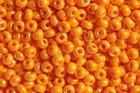 Бисер 94110 Preсiosa (Чехия) желто-оранжевый жемчужный радужный 25г
